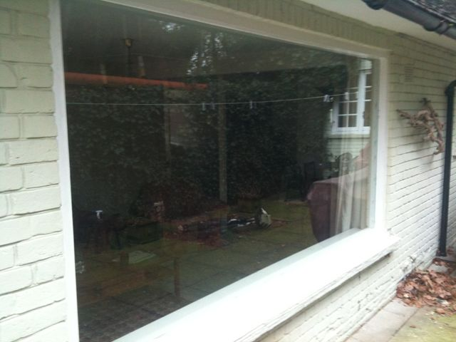 A fully installed window pane