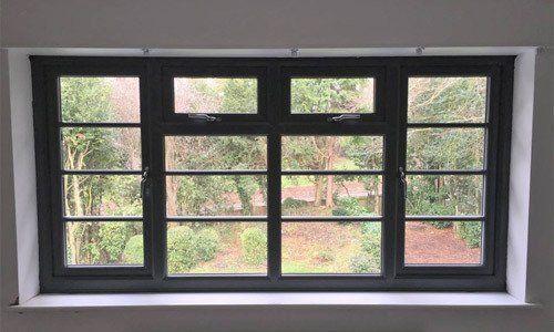 A uPVC window