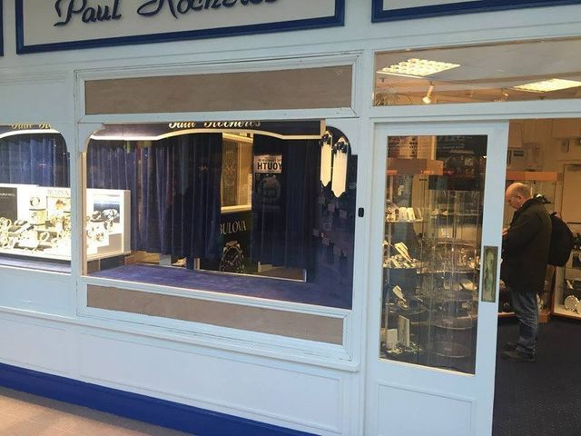 A fully repaired shop window