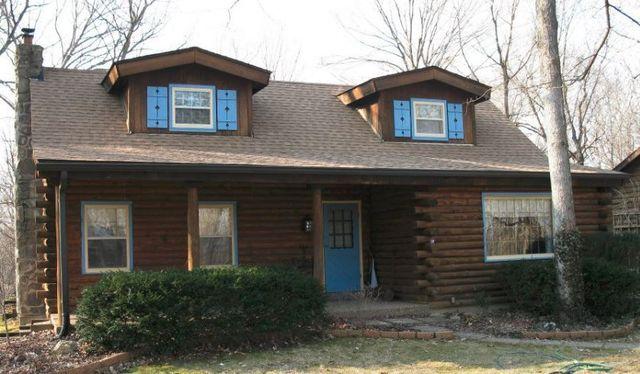 Brown wood roof shingles