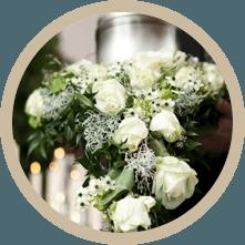 rose per funerali, rose bianche per funerali, organizzazione funerali