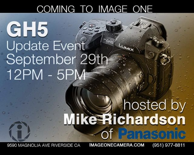 Join Michael Richardson GH5 Firmware Update Class in Store