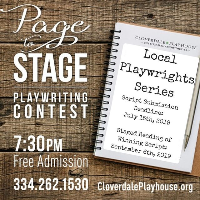 Page to Stage Playwriting Contest