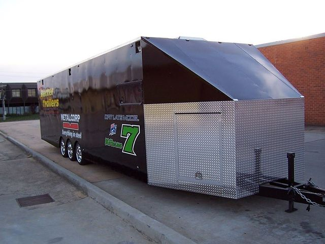 better trailers black trailer side view