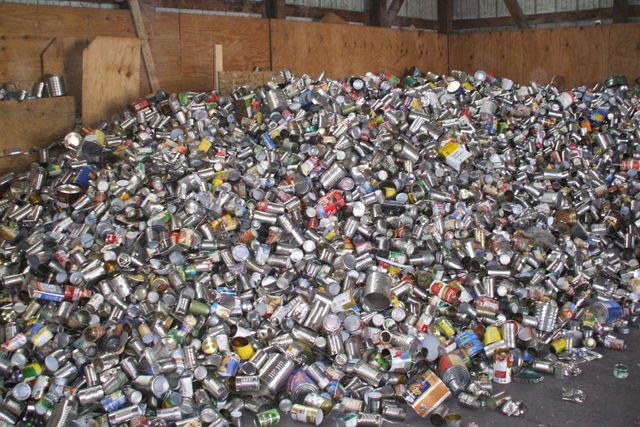 recycle glass, tin, aluminum, and cartons