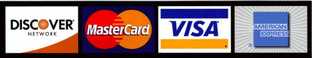 Discover   Mastercard   Visa    American Express