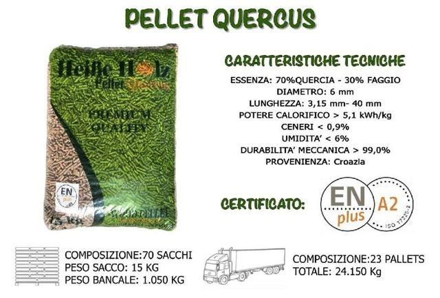 Pellet Quercus Quercia Faggio