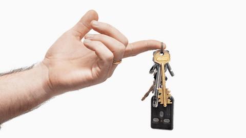 Bunch of keys in a hand
