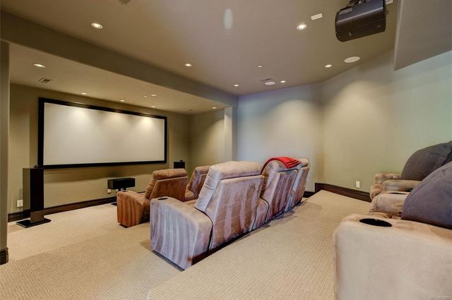 Home Theater of Basement Finishing Colorado