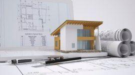 progetti edilizi e modellino di casa