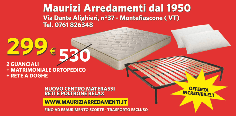 Materassi | Montefiascone, VT | MAURIZI ARREDAMENTI DAL 1950