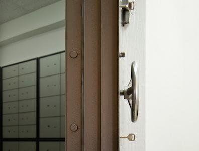 Sezione dello spessore di una porta blindata