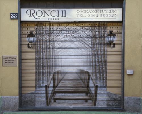 vista da fuori dell onoranze funebri Ronchi