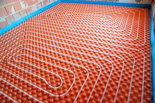 un impianto termoidraulico a pavimento