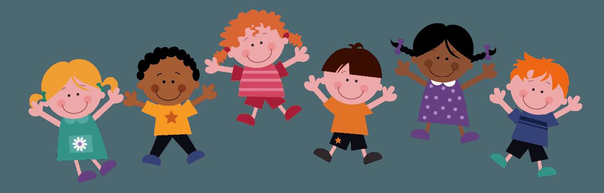 Cartoon image of kids