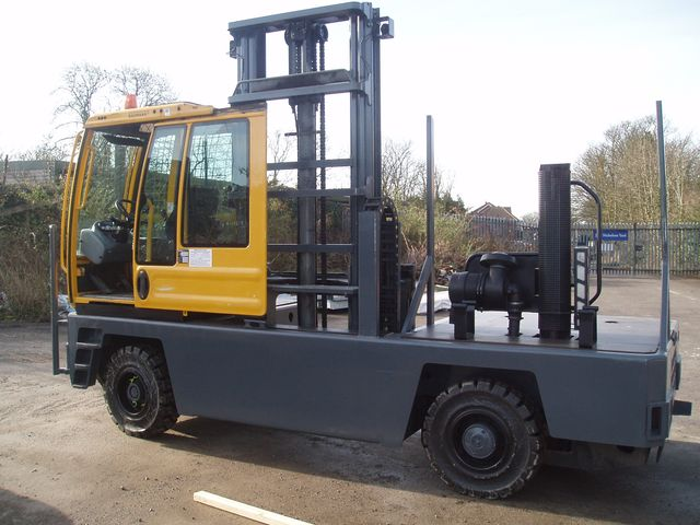 yellow and grey forklift