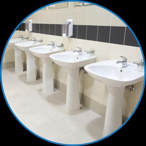 white washbasins