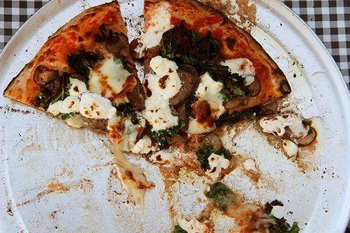 delle fette di pizza