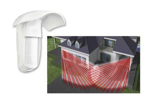 una casa con sistema di allarme