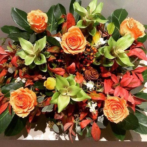 composizione di fiori e piante