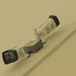 Front view of surveillance camera