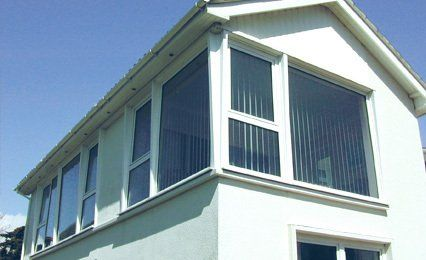corner of double glazed house upper storey