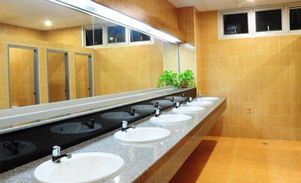 full width washroom mirror
