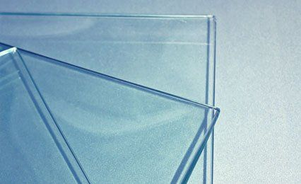 bevelled glass sections