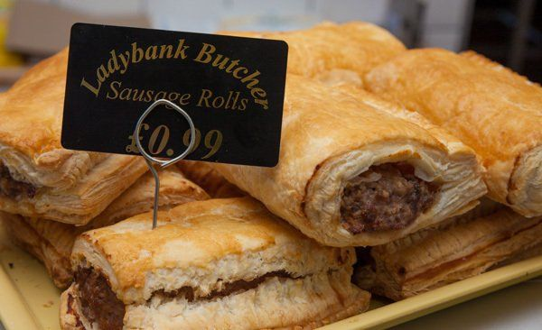 Sausage rolls by Ladybank butcher