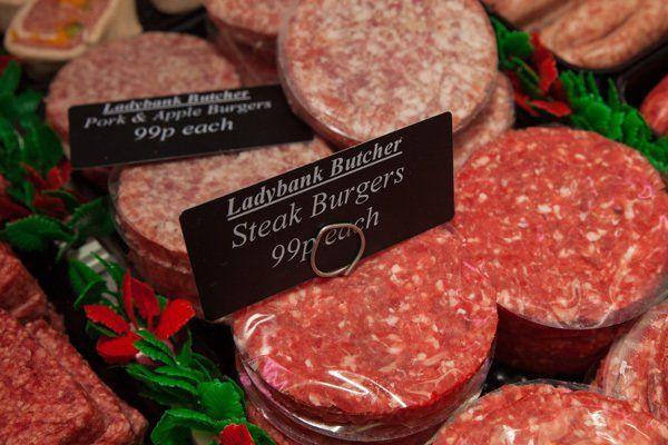 Steak burgers by Ladybank butcher