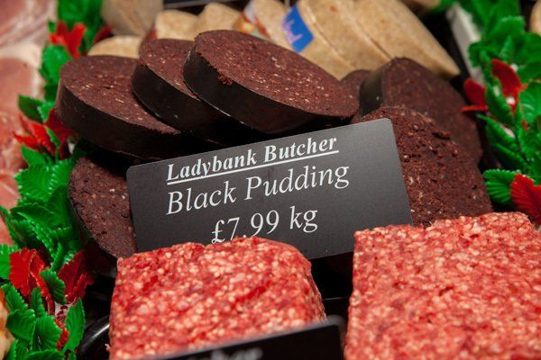 Black pudding by Ladybank butcher
