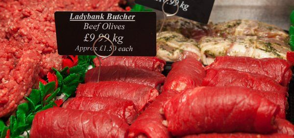 Beef olives by Ladybank butcher