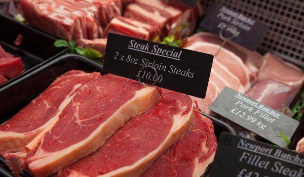 Serloin steak special at Newport butcher