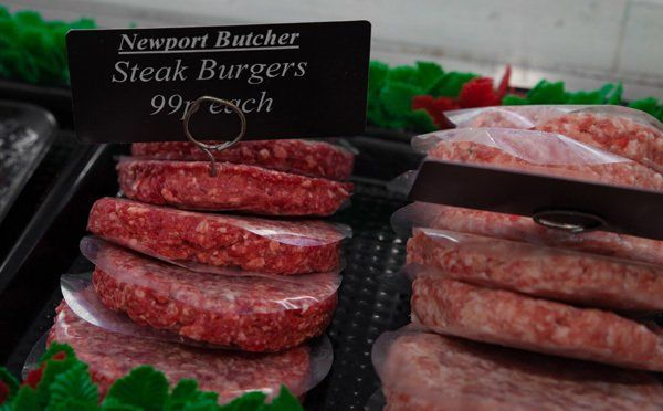 Steak burger at Newport butcher