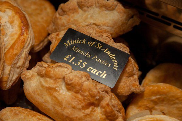 Pasties at Minick of ST. Andrews