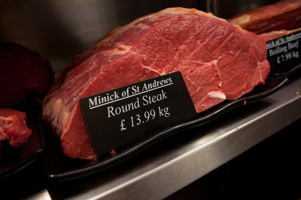 Round steak at Minick of ST. Andrews