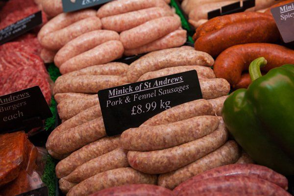 Pork & fennel sausages at Minick of ST. Andrews