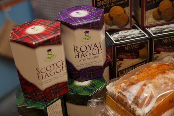 Variety of scotch haggis at Minick of ST. Andrews