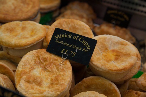 Individual steak pie at Minick of Cupar