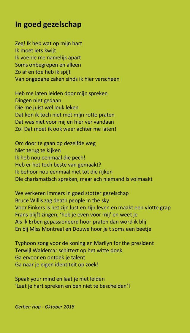 Wereldstotterdag 2018 Gedicht Van Gerben Hop