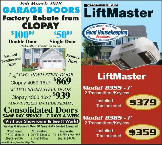 West Bend Garage Door Repair Consolidated Doors Garage