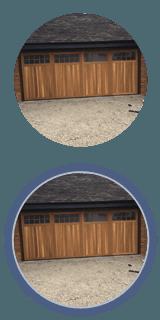 timber garage door