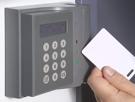 A key card operated security system