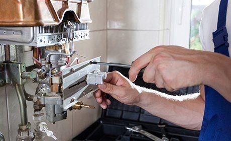 boiler being serviced