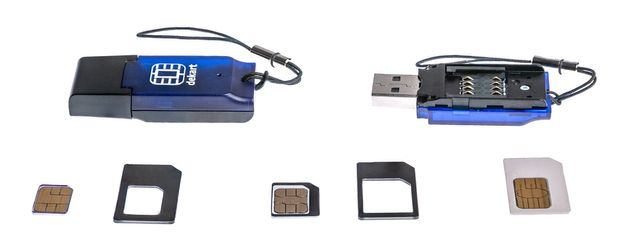 PHOTO)How to insert the SIM card into the new Dekart SIM Reader