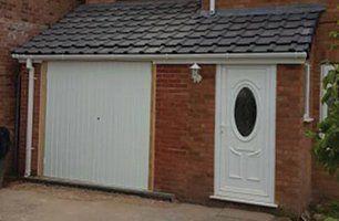 house main door and garage door