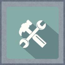 chiave inglese e martello