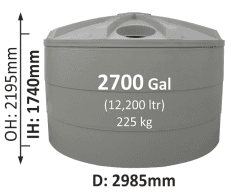12200-Litre-Round-Poly-Water-Tank-QLD