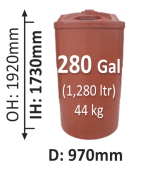 970-Litre-Round-Poly-Water-Tank-QLD