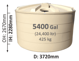 24400-Litre-Round-Poly-Water-Tank-QLD